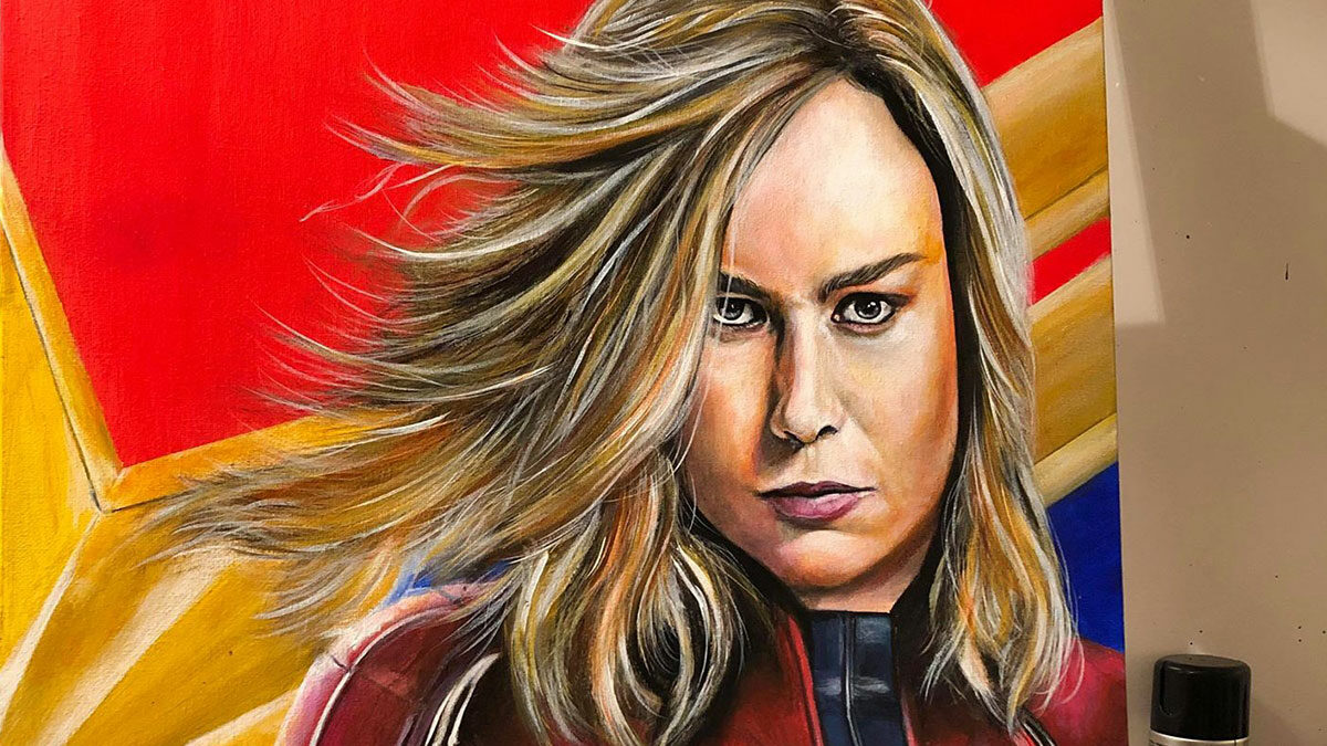 COMPETITION: Win A Captain Marvel Painting By Shane's Artworks!